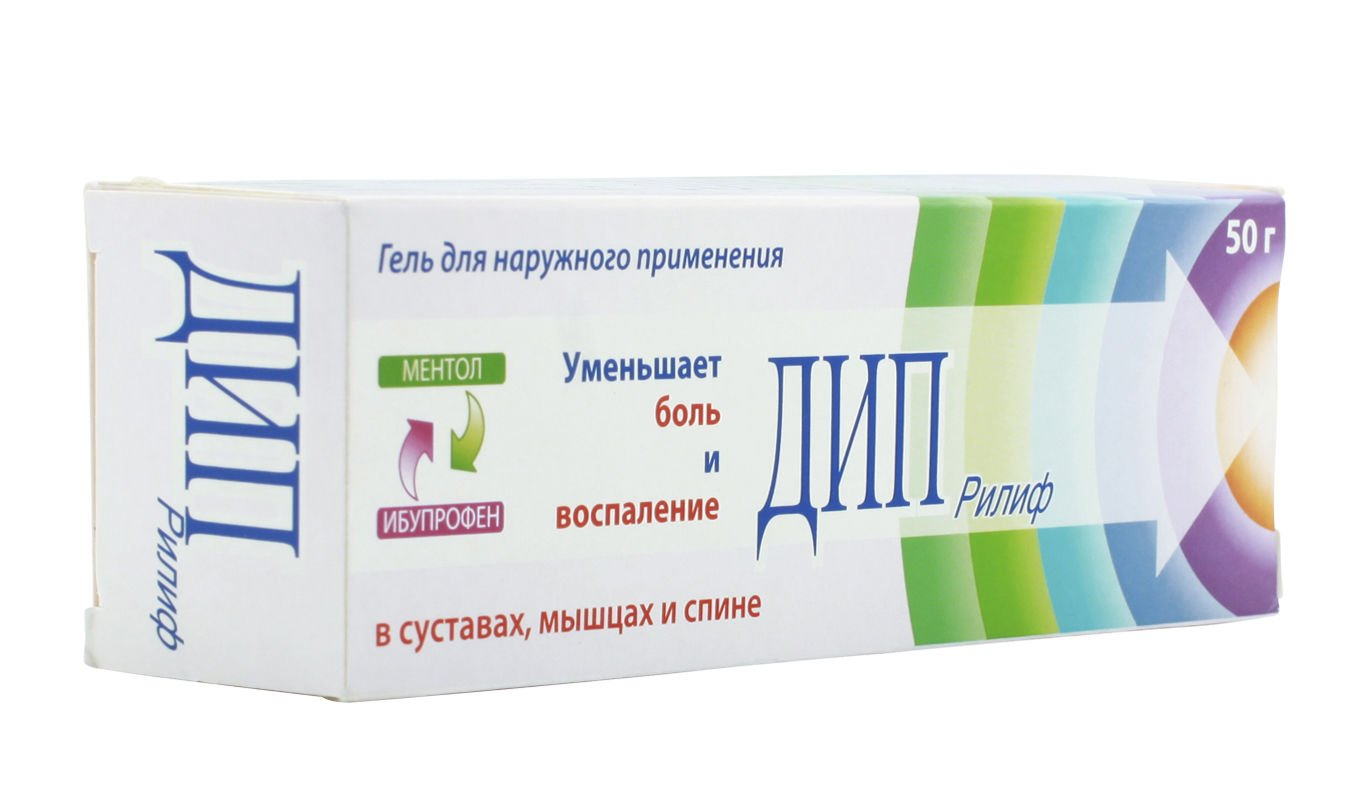 Deep Relief (ibuprofen, levomenthol) gel 50 g.