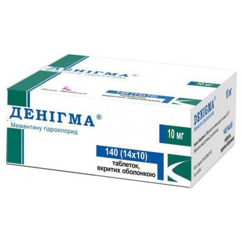 Denigma (memantine) coated tablets 10 mg. №140