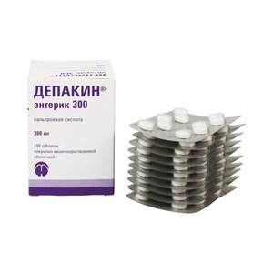 Depakin (sodium valproate) enteric coated tablets 300 mg. №100