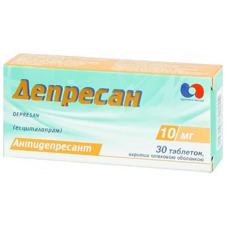 Depresan (escitalopram) coated tablets 10 mg. №30