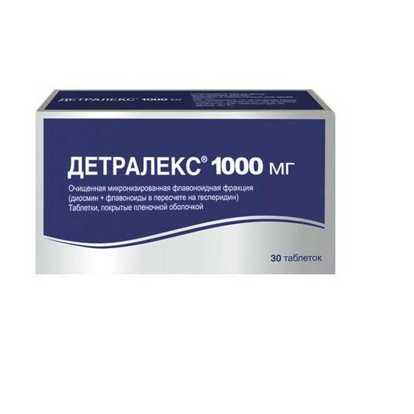 Detralex coated tablets 1000 mg. №30