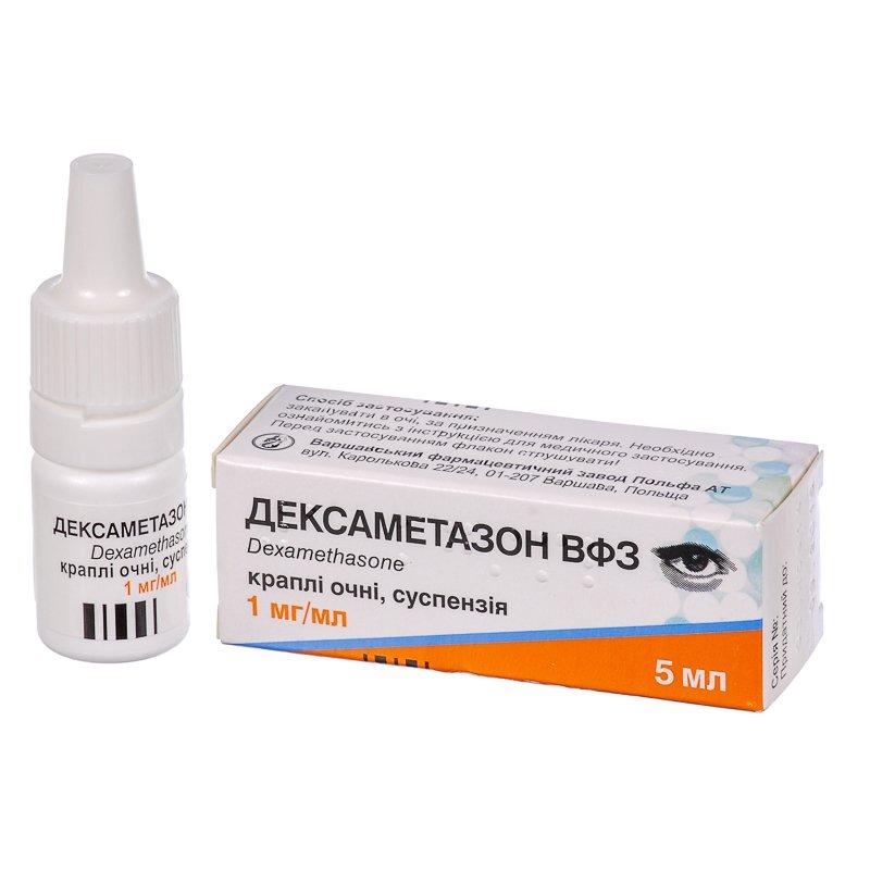 Dexametazon VFZ (dexamethasone) drops suspension 1 mg/ml. 5 ml.