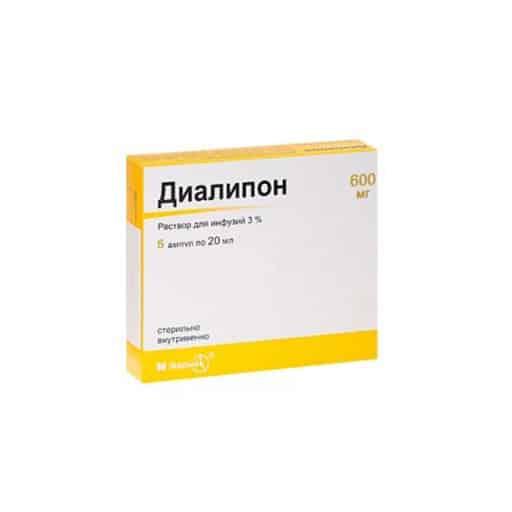 Dialipon (thioctic acid) ampoules 3% 20 ml. №5