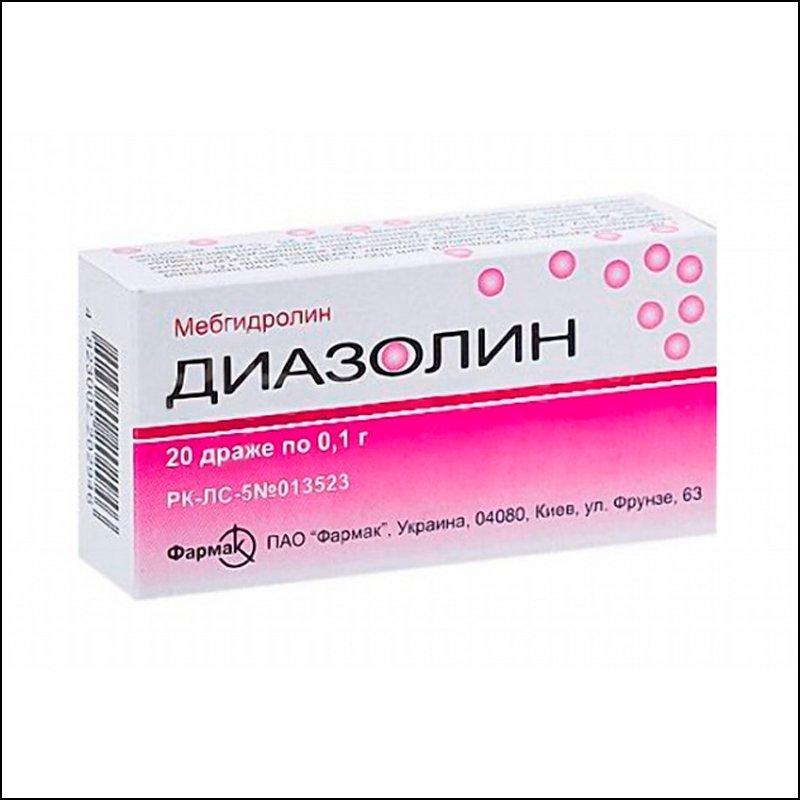 Diazolin (mebhydrolin) 0.1 №20