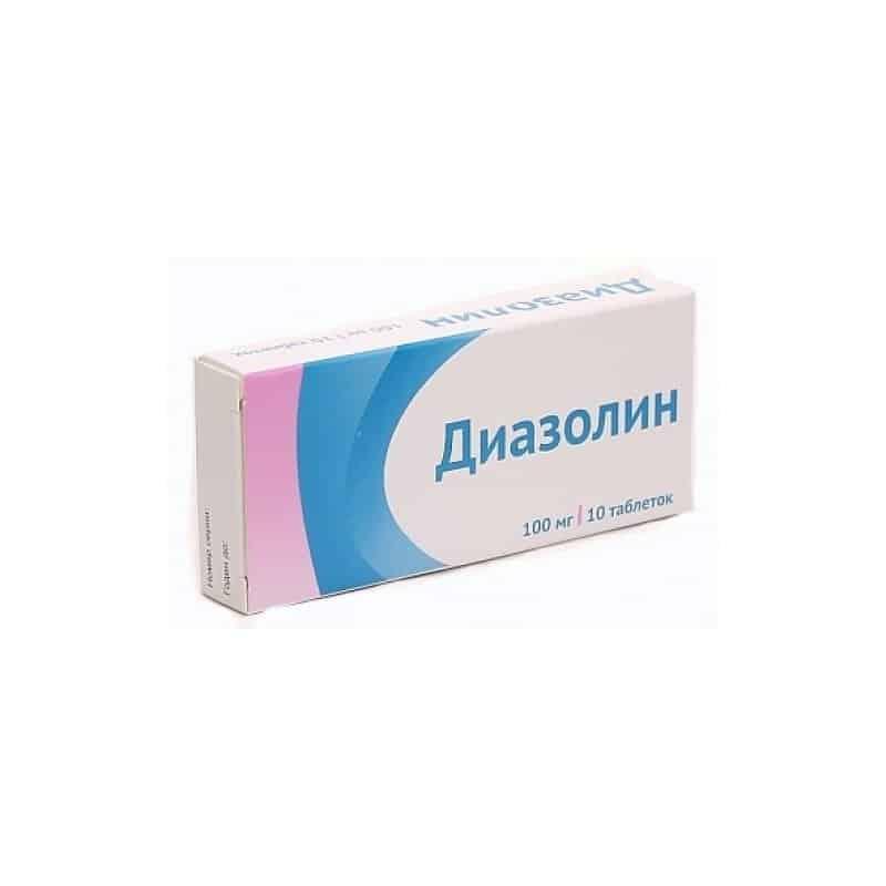 Diazolin (mebhydrolin) tablets 0.1g. №10