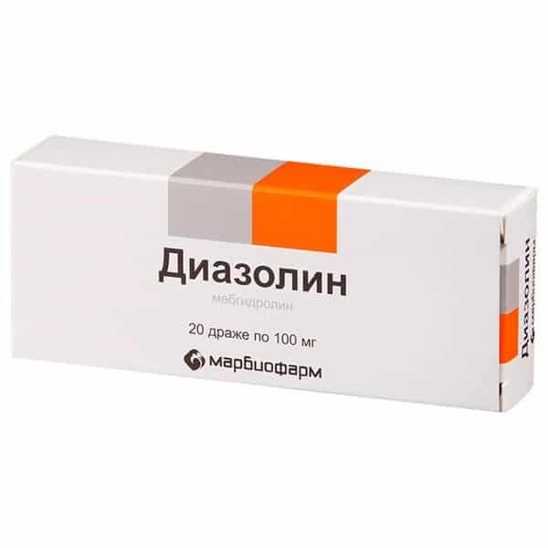 Diazolin (mebhydrolin) 100 mg. №20