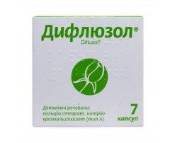 Difliuzol (fluconazole) capsules 0.1g. №7