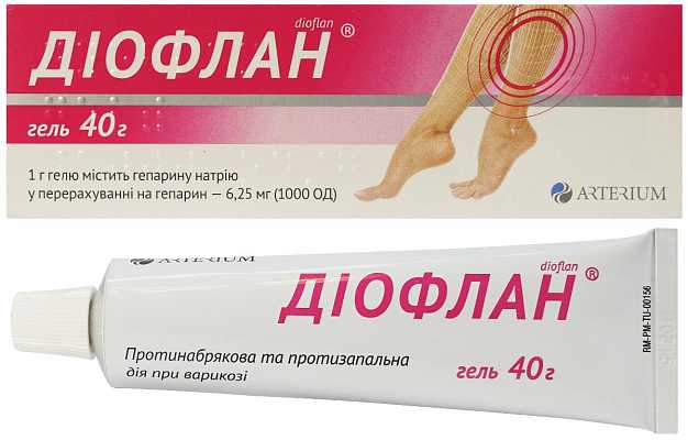 Dioflan (heparin) gel 1000 40 g. tube №1