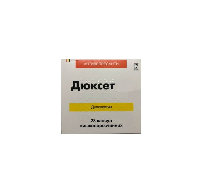 Diuxet (duloxetine) enteric capsules 30 mg. №28