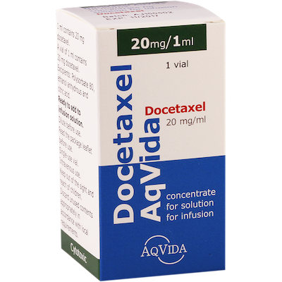 Docetaxel (docetaxel) concentrate for infusions 20 mg/ml. 1ml. (20 mg.) vial №1