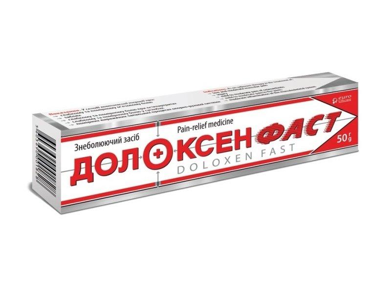 Doloxen Fast (paracetamol, diclofenac sodium) ointment 61.1 mg/g. 50 g. Tube