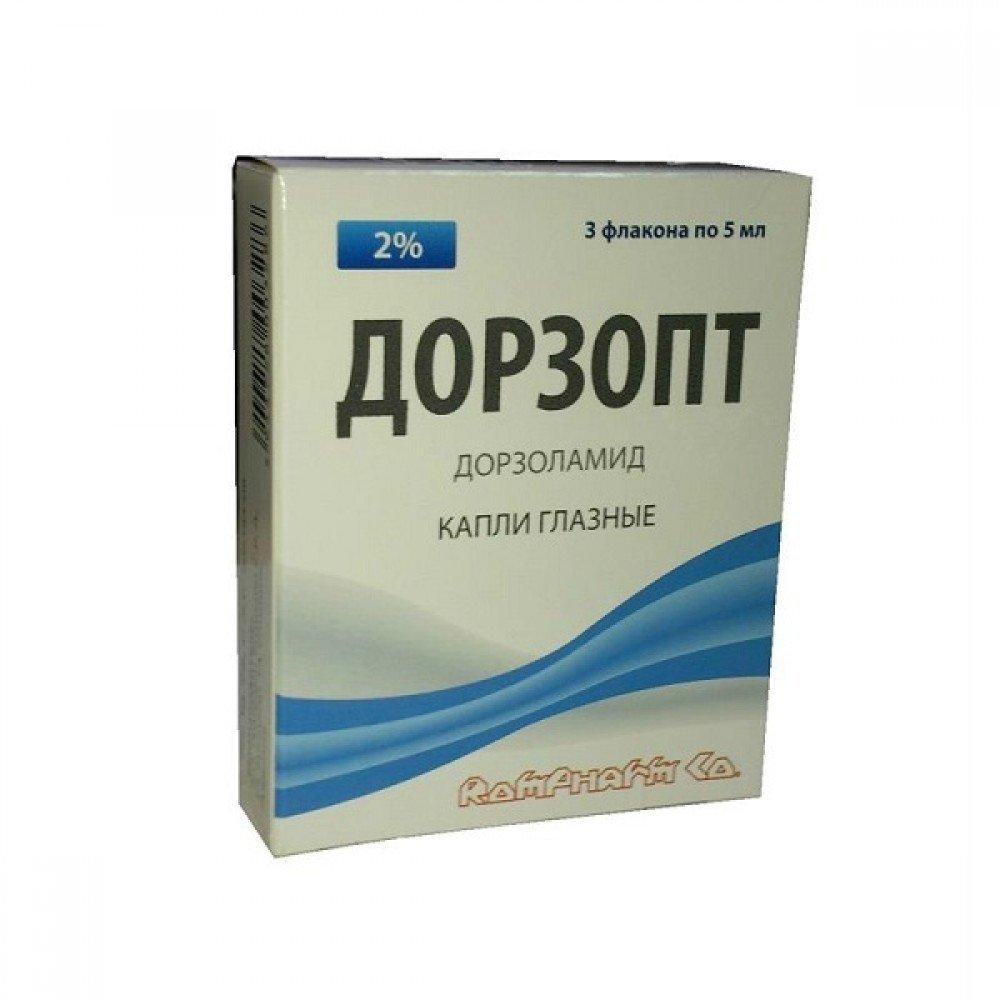 Dorzoptik (dorzolamide) eye drops solution 20 mg/ml. 5 ml. bottle dropper №1