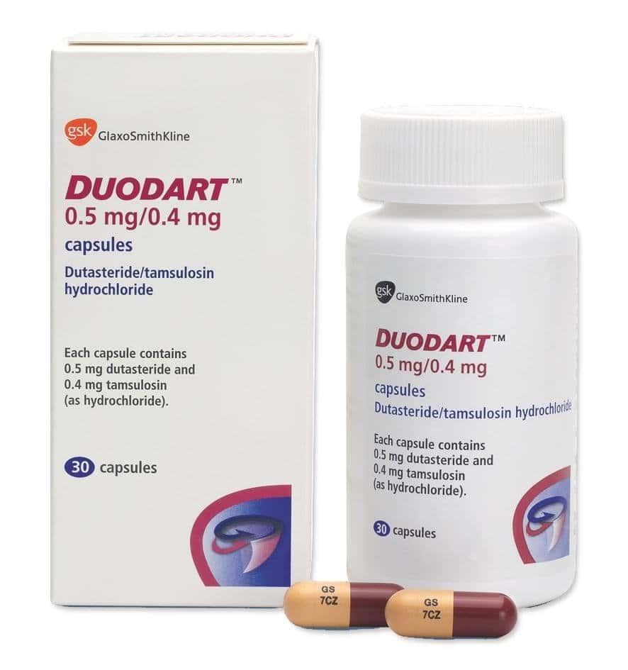 Duodart (dutasteride) hard capsules 0.5 mg/0.4 mg. №30 vial