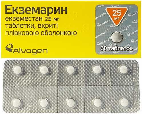 Ecsemarin (exemestane) coated tablets 25 mg. №30