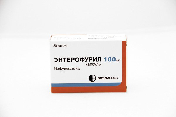 Enterofuril (nifuroxazide) capsules 100 mg. №30