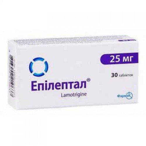 Epileptal (lamotrigine) tablets 25 mg. №30
