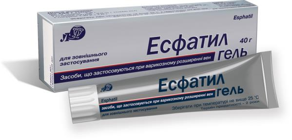 Esfatil gel 40 g. tube