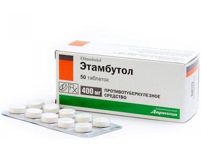 Etambutol (ethambutol) tablets 0.4 №50