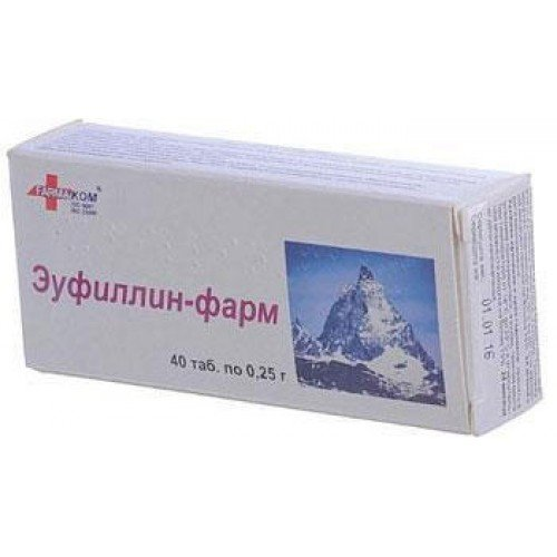 Eufillin-farm (theophylline) tablets 0.25 №40