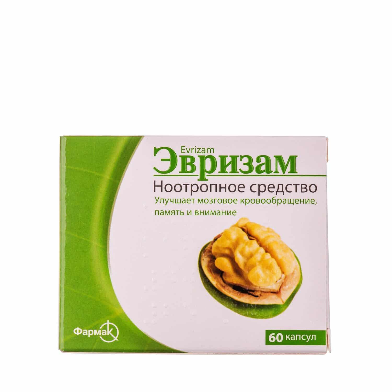 Evrizam (piracetam, Cinnarizine) capsules 400 mg/25 mg. №60