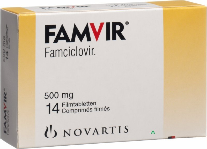 Famvir (famciclovir) coated tablets 500 mg. №14