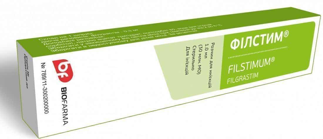 Filstim (filgrastim) solution for injections 1ml. (30 ml. n IU) 0.3 mg. №1 syringe