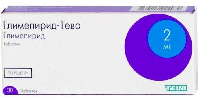 Glimepirid-TEVA tablets 2 mg. №30