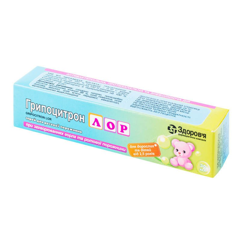 Grippocitron LOR oral spray 30 ml.