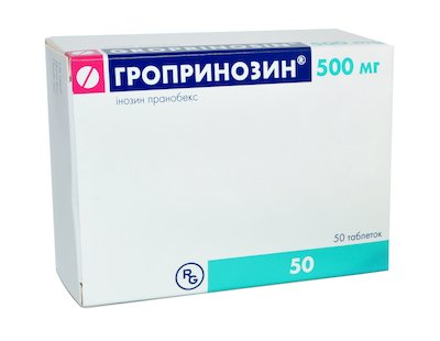 Groprinozin tablets 500 mg. №50