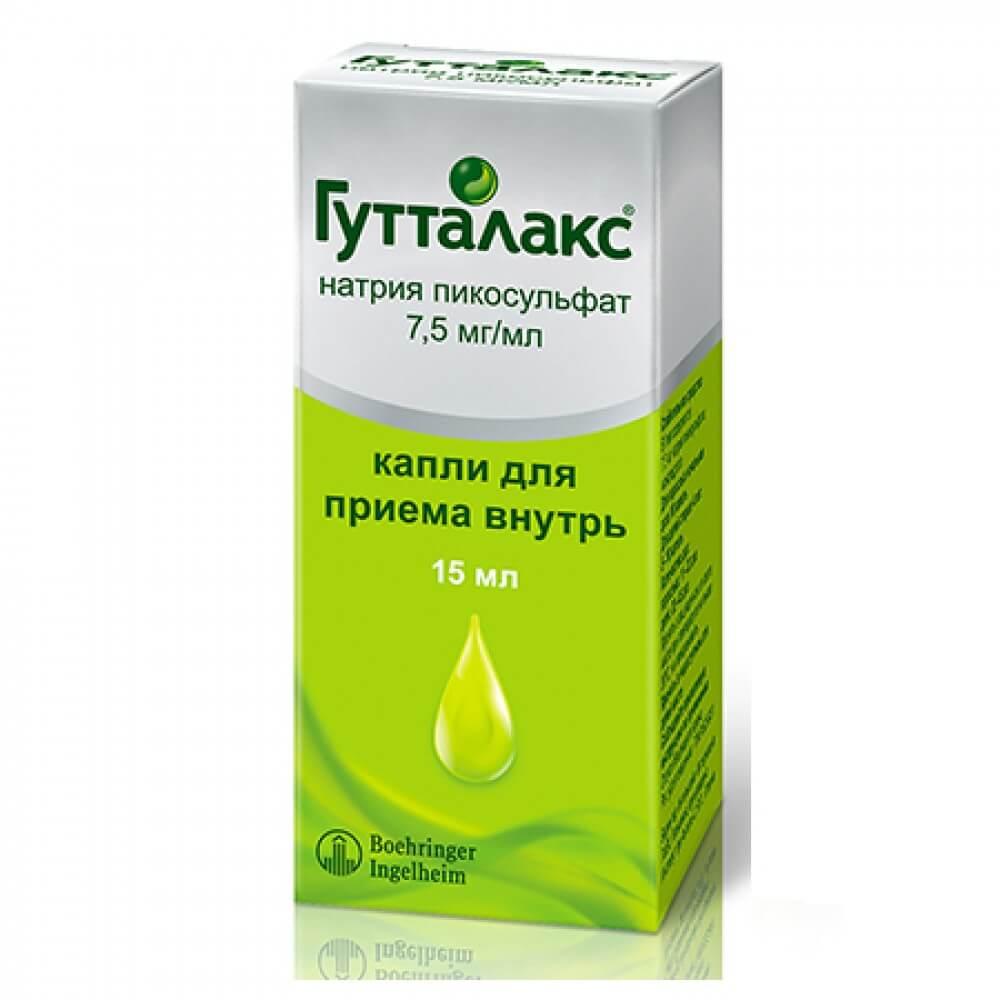 Guttalax drops 7.5 mg/ml. 15 ml.