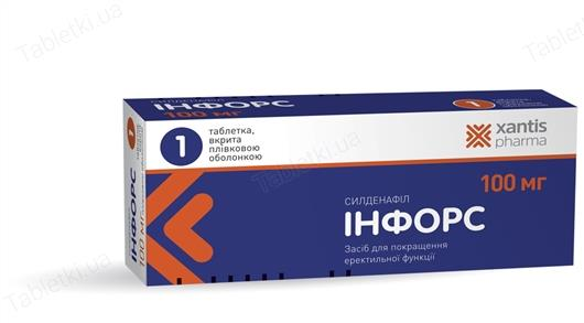 Infors coated tablets 100 mg. №4