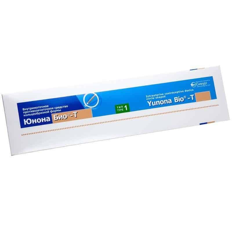 "Intrauterine VM ""Iunona Bio-T Ag"" type 1, ring"