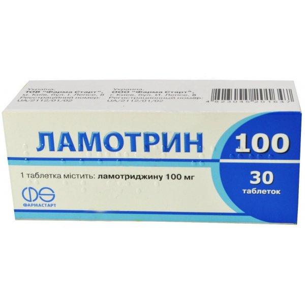 Lamotrin-100 tablets 100 mg. №30