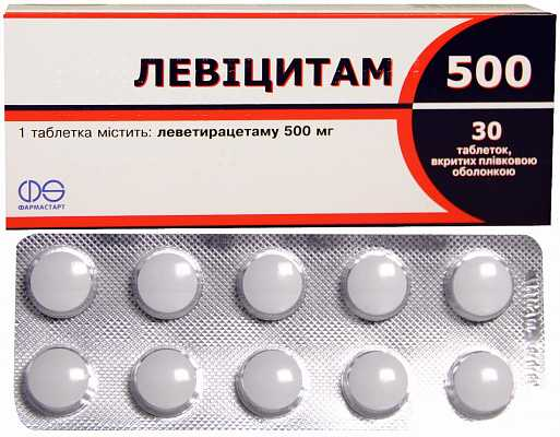 Levicitam 500 coated tablets 500 mg. №30