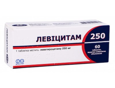 Levicitam 250 coated tablets 250 mg. №60