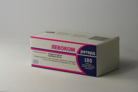 Levocom Retard Asino tablets with prolonged release 200 mg/50 mg. №100