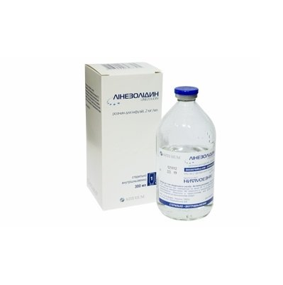 Linezolidin solution for infusions 2 mg/ml. 300 ml.