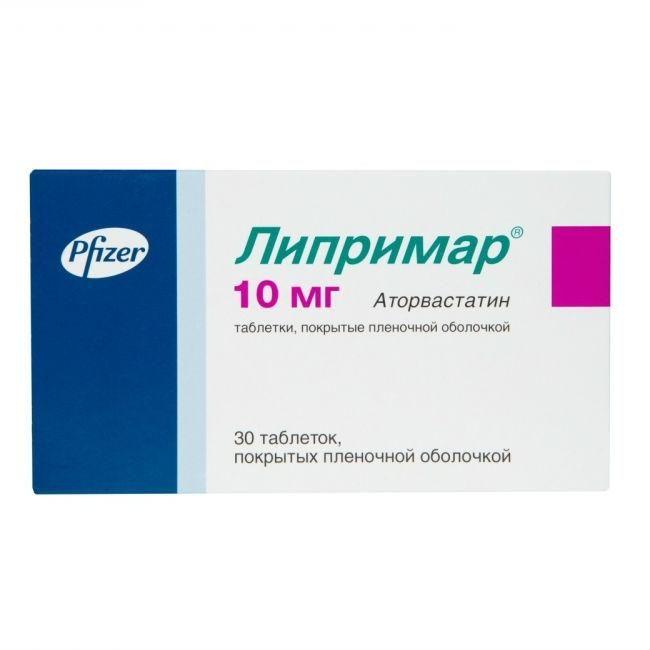 Liprimar coated tablets 10 mg. №30