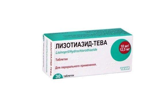 Lizotiazide-TEVA tablets 10 mg/12.5 mg. №30