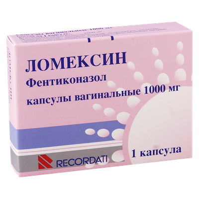 Lomexin vaginal capsules 1000 mg. №1