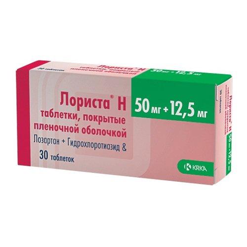 Lorista H coated tablets 50 mg/12.5 mg. №30