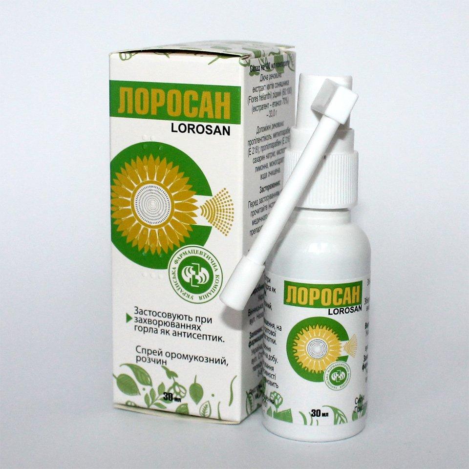 Lorosan spray oromuc. solution 30 ml. vial