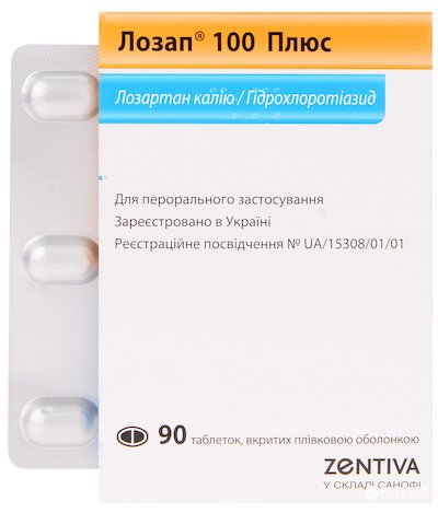 Lozap 100 Plus coated tablets 100 mg/25 mg. №90