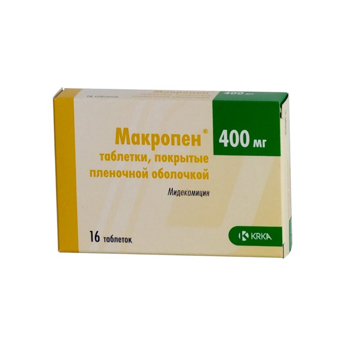 Macropen coated tablets 400 mg. №16