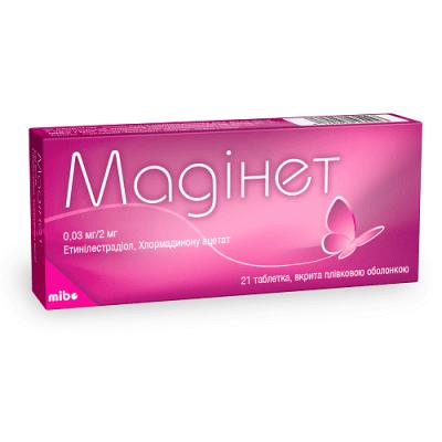 Madinet coated tablets 0.03 mg/2 mg. №21