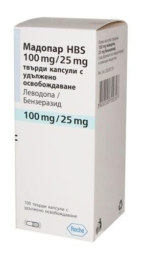 Madopar tablets 200 mg/50 mg. №100 vial