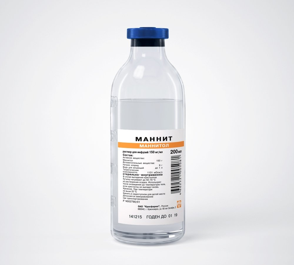 Mannit (glibenclamide) solution for infusions 15% 200 ml.