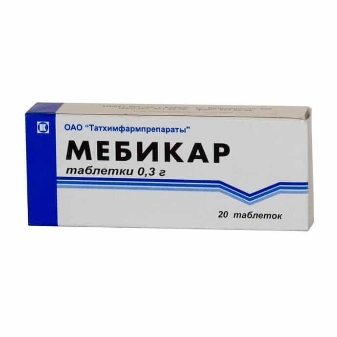 Mebicar (mebicar) tablets 0.3g. №20