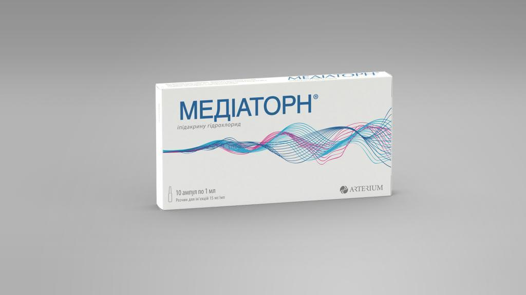 Mediatorn (ipidacrine hydrochloride) solution for injections 15 mg/ml. 1ml. ampoules №10
