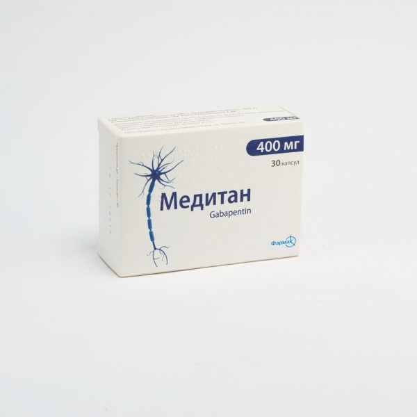 Meditan (gabapentin) capsules 400 mg. №30